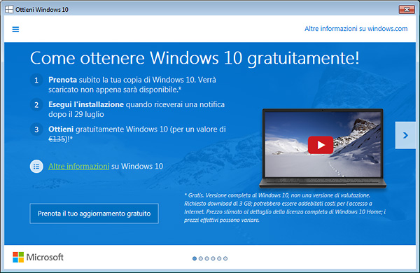Prezzi Windows 10