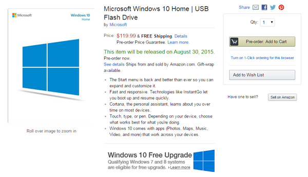 Windows 10 Home su chiavetta USB
