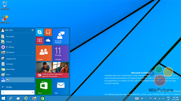 Windows 9, Start Menu