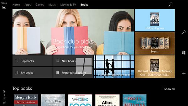Windows 10 avrà presto un e-book store nativo