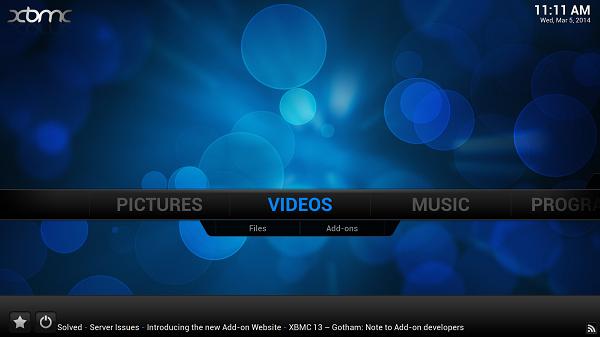 XBMC v13.0 Gotham Beta per Android